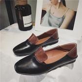 鞋子女韓版休閒平底小白鞋女簡約百搭踩跟女鞋兩穿小皮鞋 奇思妙想屋