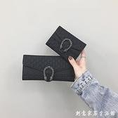 短款錢包女新款韓版超薄折疊小錢夾復古時尚多卡位長款手拿包 中秋節全館免運