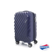 AT美國旅行者 20吋Zavis 立體閃電防刮耐磨飛機輪硬殼TSA登機箱(靛藍)