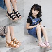 女童涼鞋新款夏季女童露趾涼鞋中大童學生休閒防滑沙灘涼鞋