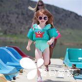 嬰幼兒童救生衣寶寶游泳裝備浮力水袖背漂游泳衣男女童手臂游泳圈
