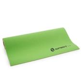 PVC無毒環保材質雙色雙用瑜珈墊-5mm-淺綠/磚紅