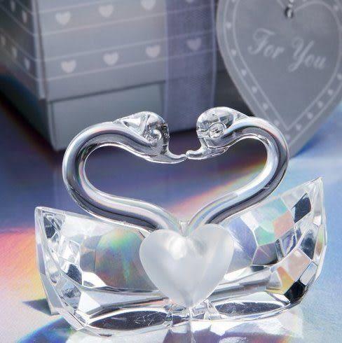 《婚禮小物-天鵝造型水晶擺飾 /入》*喜糖/桌上禮/送客禮/二次進場