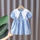 女童洋裝 女童連身裙夏洋氣純棉小童學院風夏季兒童公主裙女寶寶裙子夏裝