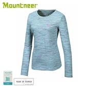 【Mountneer 山林 女 排汗保暖上衣《銀灰》】32P28/內層衣/圓領上衣