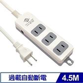 威電 CK2031-15 2P電源延長線 15尺 4.5M 3插 15A
