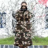 軍大衣男士冬季加厚長款棉大衣可拆洗保安防寒大衣工作服勞保棉服  WD 可然精品