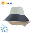 UV100 防曬 抗UV-防潑水水玉點護頸面罩帽