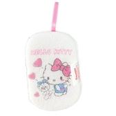 小禮堂 Hello Kitty 沐浴澡棉 洗臉海綿 洗澡海棉 潔顏海棉 搓澡巾 (白 愛心小熊) 5712977-10955