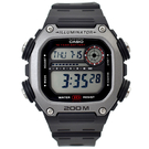 CASIO手錶 霧銀方框電子膠錶NECD8