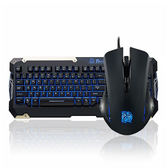 Tt eSports 曜越 軍令官COMMANDER Combo 電競 LED藍光 鍵盤滑鼠組