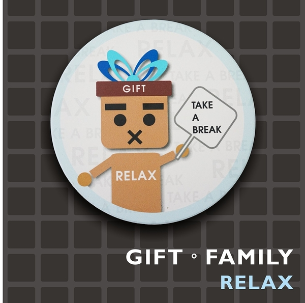 GIFT FAMILY-RELAX ◎陶瓷吸水杯墊-設計款-【Fruit Shop】