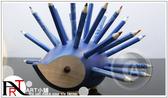 『ART小舖』捷克KOH-I-NOOR 手工木製可愛刺蝟造型筆筒【藍色】附24色油性彩色鉛筆