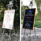 展架易拉寶海報支架婚禮迎賓結婚照片酒店門口立式落地廣告牌 萬客居