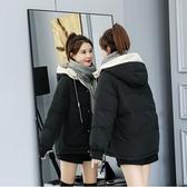 現貨黃ML黑S羽絨棉服女短款冬季新款韓版ins面包服棉襖寬松加厚棉衣外套1901.1F021B
