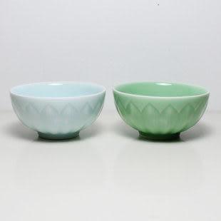龍泉青瓷蓮花梅碗餐具