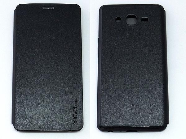 X-level Samsung GALAXY ON7 側翻手機保護皮套 纖彩II系列 TPU軟殼全包 黑色