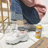 百搭女厚底增高學生運動鞋透氣跑步鞋 LI105『毛菇小象』