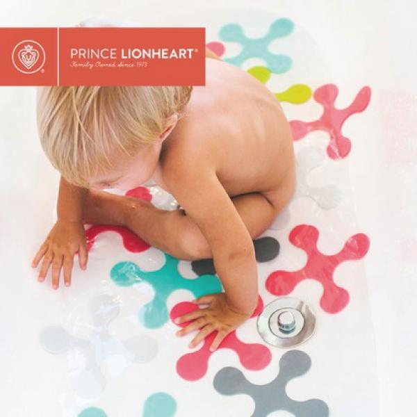 美國 Prince Lionheart 多功能拼貼兒童浴室防滑墊 (18片)