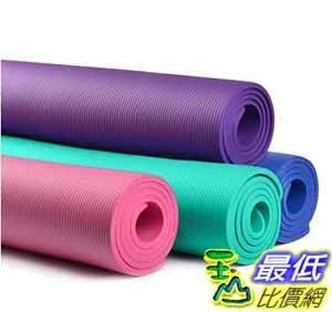 [大陸直寄] (三件套) 奧義 瑜伽墊 初學者10MM 加長防滑 健身墊 男女士 加厚加寬 無味 瑜珈墊