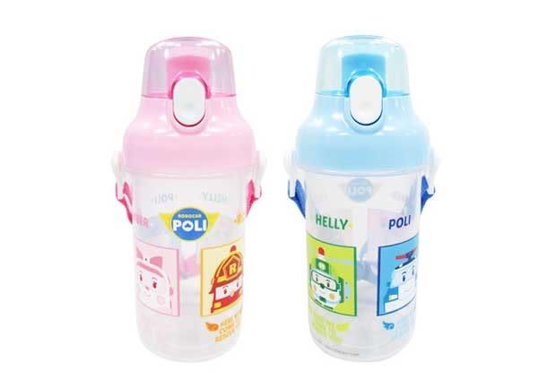 POLI波力救援小英雄直飲式水壺兒童水壺水杯500ml波力安寶