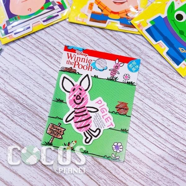 迪士尼 小熊維尼 小豬 造型防水小貼紙 壁貼 行李箱貼 筆電貼 機車貼 貼紙 COCOS TM031