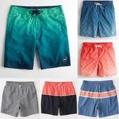 新款af速干漸變色沙灘褲男寬鬆大碼潛水溫泉五分泳褲海邊沖浪短褲