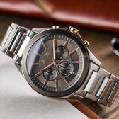A/X Armani Exchange 亞曼尼 氣宇非凡三眼計時鋼帶腕錶 AX2606 熱賣中!