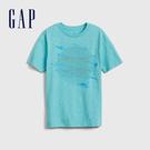 Gap 男童 舒適全息圖圓領短袖T恤 573634-亮孔雀石綠