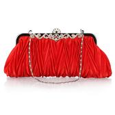 新娘包包結婚包紅色宴會包韓版晚宴包手拿包鉆手抓小包禮服手拿包包TT1506『麗人雅苑』