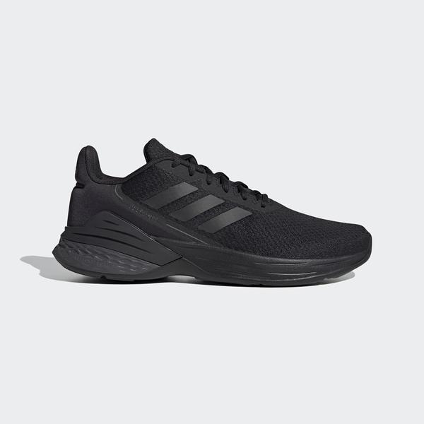 ADIDAS RESPONSE SR 男款全黑慢跑鞋-NO.FX3627