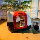 貓砂盆全封閉式超大號防外濺貓咪廁所除臭防臭幼貓貓沙盆【小獅子】