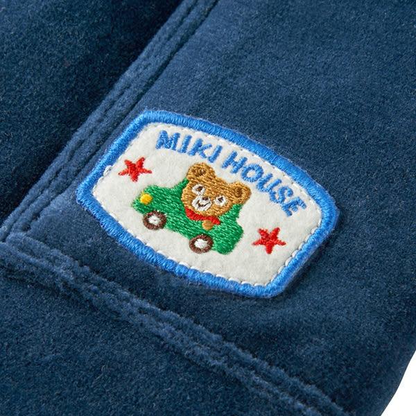 MIKI HOUSE 普奇熊車車反摺長褲 (天空藍)