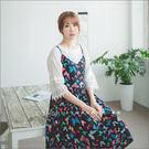 洋裝    繽紛彩色蝴蝶蝴蝶結可調細肩絲棉洋裝    二色-小C館日系