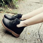 森雅誠品 秋冬女短靴英倫學院風馬丁靴復古厚底女靴子內增高學生鞋