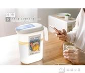 水壺 日本進口冰水涼水杯冷水壺塑料帶蓋耐熱水壺家用大容量果汁飲料壺 娜娜小屋