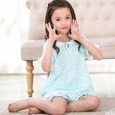 短袖兒童睡衣夏女童夏天女孩公主中大童小孩7家居服夏季9周歲 限時八折 最后一天