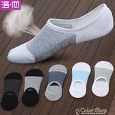 船襪隱形襪子男士防臭純棉祙夏季超短襪套夏天淺口超薄款防滑低幫color shop
