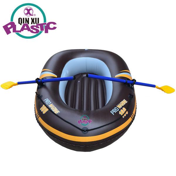 新視界 單人皮艇 充氣船1人皮劃艇 橡皮艇氣墊船釣魚船兒童船氣墊船