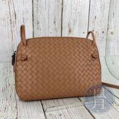BRAND楓月 BOTTEGA VENETA BV 皮革 藕粉色 編織 經典款 貝殼包 側背包