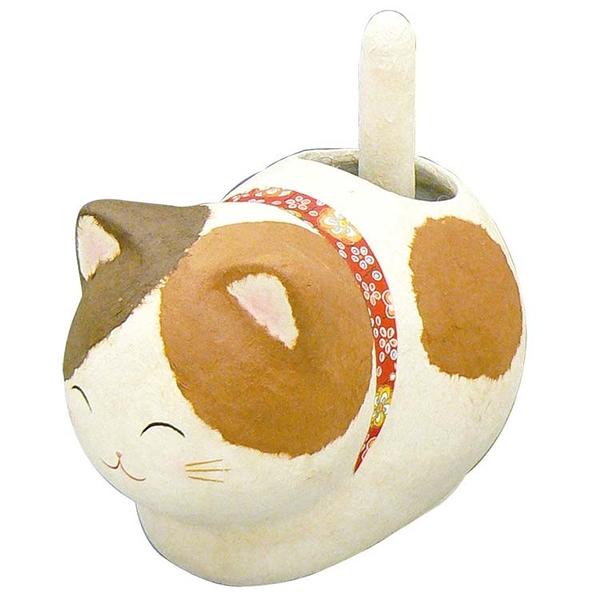 招財貓 和紙 太陽能 光能 搖尾巴 龍虎作 日本製