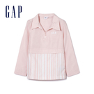 Gap男童GAPxCONSTANCETSUI拼接設計拉鏈外套358395-春天粉色