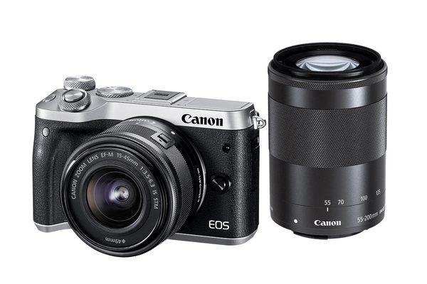 【聖影數位】Canon EOS M6 [15-45mm + 55-200mm 雙鏡組] 公司貨 微單眼相機 無反