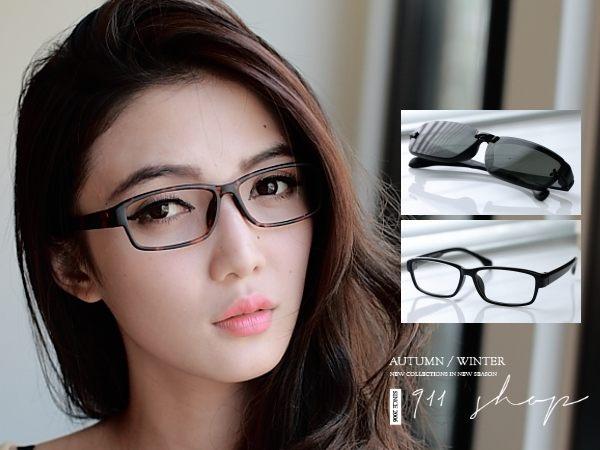 Chic.偏光磁扣XTR90塑膠鈦。方形配鏡框眼鏡【od899】*911 SHOP*