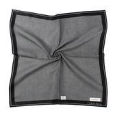 CalvinKlein 迷宮紳士純棉帕巾(黑色)989091-250