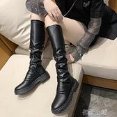 馬丁靴女薄款透氣百搭短靴長筒【全館免運】