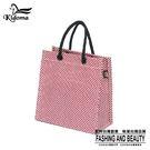 手提袋-編織袋(S)-紅白-03C