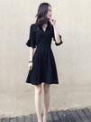 連身裙 a字裙 洋裝S-2XL赫本風格裙...