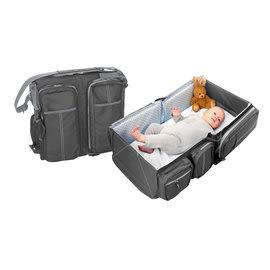 比利時Doomoo Basics Travel Bag 輕量型寶寶行動眠床-個性灰
