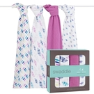 Aden+Anais 輕鬆抱寶寶包巾(四入裝) 紫色秋天款 2053[衛立兒生活館]